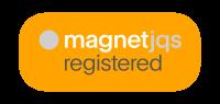 Magnet-Registered-badge-Orange